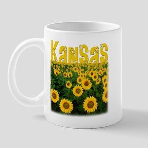 Kansas Sunflower Field Mug