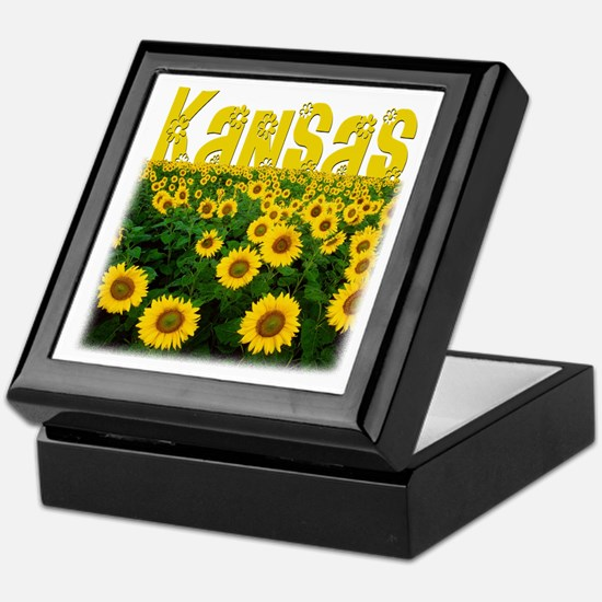 Kansas Sunflower Field Keepsake Box