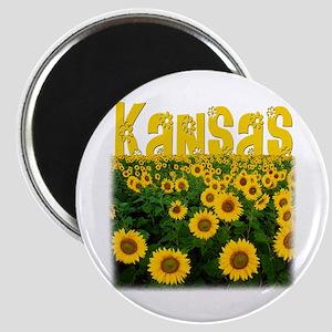 Kansas Sunflower Field Magnet