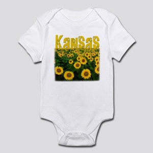 Kansas Sunflower Field Infant Bodysuit