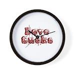 Love Sucks Wall Clock