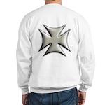 Titanium Chrome Biker Cross Sweatshirt