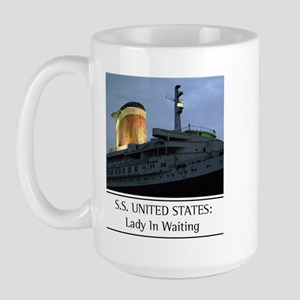 SS United States: Lady In Wai Large Mug