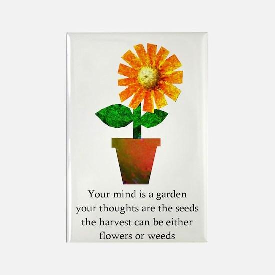 Spiritual Gardening Rectangle Magnet