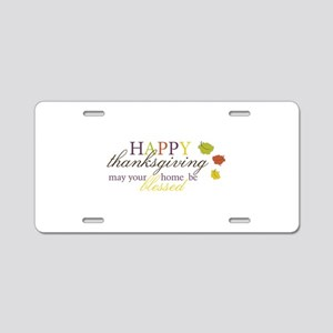 Be Blessed Aluminum License Plate