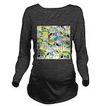 ButterflyfishPattern1 Long Sleeve Maternity T-Shir