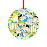 ButterflyfishPattern1 Ornament (Round)