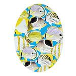 ButterflyfishPattern1 Ornament (Oval)