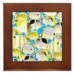 ButterflyfishPattern1 Framed Tile