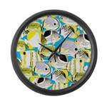 ButterflyfishPattern1 Large Wall Clock