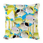 ButterflyfishPattern1 Woven Throw Pillow