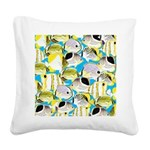 ButterflyfishPattern1 Square Canvas Pillow
