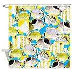 ButterflyfishPattern1 Shower Curtain