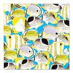 ButterflyfishPattern1 Square Car Magnet 3