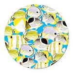 ButterflyfishPattern1 Round Car Magnet