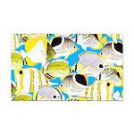 ButterflyfishPattern1 Rectangle Car Magnet