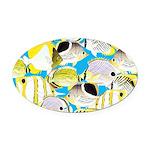 ButterflyfishPattern1 Oval Car Magnet