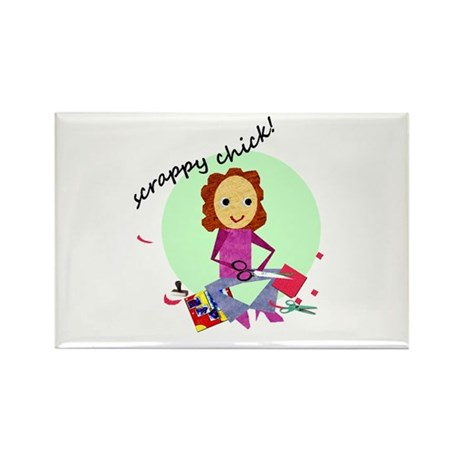 Scrappy Chick Rectangle Magnet (10 pack)