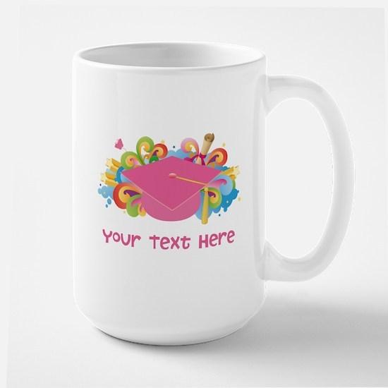 Graduation Hat Logo personalized Mugs