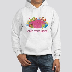 Graduation Hat Logo personalized Hoodie