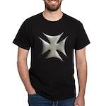 Titanium Chrome Biker Cross Dark T-Shirt