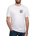 Titanium Chrome Biker Cross Fitted T-Shirt