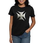Titanium Chrome Biker Cross Women's Dark T-Shirt