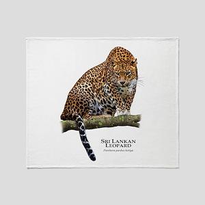Sri Lankan Leopard Throw Blanket