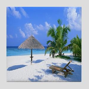 Beach Rest Tile Coaster