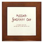 Missing Sensitivity Chip..Call Framed Tile