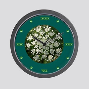 Medium Green Yarrow Wall Clock
