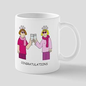 Lesbian Couple Congratulations. Mugs