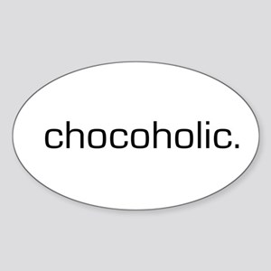 Chocoholic Oval Sticker