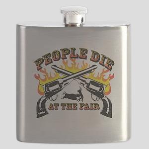 People Die at the Fair Flask