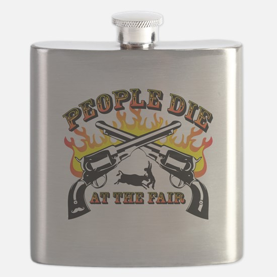 People Die at the Fair Flask