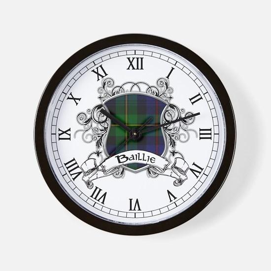 Baillie Tartan Shield Wall Clock