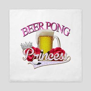 Beer Pong Princess style Queen Duvet