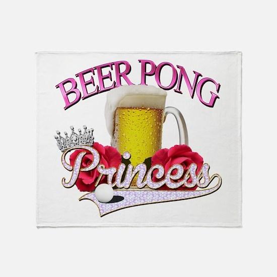 Beer Pong Princess style Throw Blanket