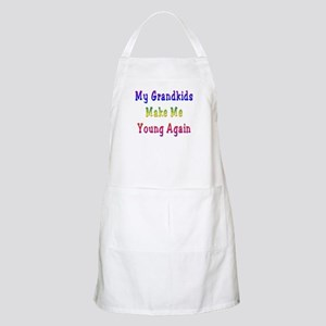 Grandkids Make Me Young BBQ Apron