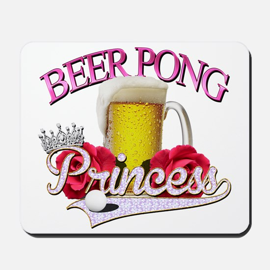 Beer Pong Princess style Mousepad