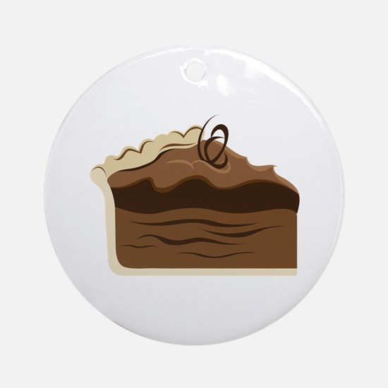 Chocolate Pie Ornament (Round)