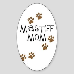 Mastiff Mom Oval Sticker