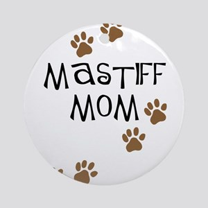 Mastiff Mom Ornament (Round)
