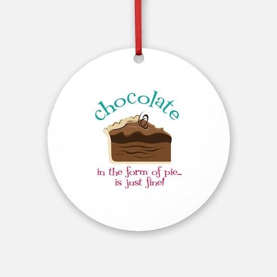 Chocolate Ornament (Round)