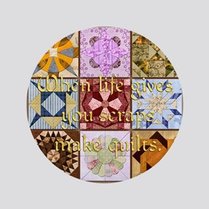 """Harvest Moons Quilts 3.5"""" Button"""