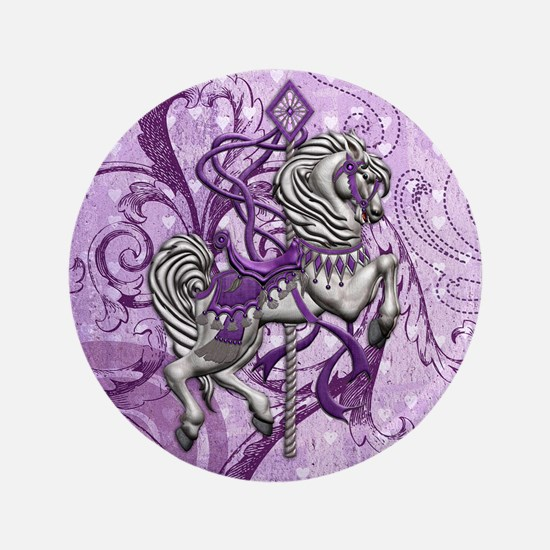 """Harvest Moons Victorian Carousel 3.5"""" Button"""