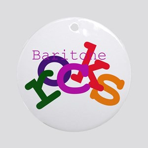 Baritone Rocks Ornament (Round)