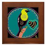 yellow-headed blackbird Framed Tile