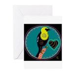 yellow-headed blackbird Greeting Cards (Package of