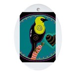 yellow-headed blackbird Oval Ornament